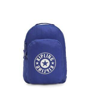 Kipling Large Foldable BACKPACK in LASERLIGHT BLUE  RRP £44