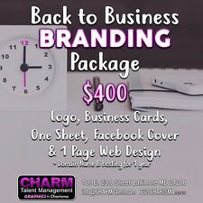 Back to Business Branding Package Logo, Business Cards, Webpage + more!
