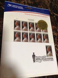 Official USPS Limit Edit BLACK HERITAGE 1st Day Issue Anna Julia Cooper 20 Stamp