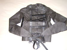 Straight jacket, Black full costume escapology suit, Leather Size Small/med....