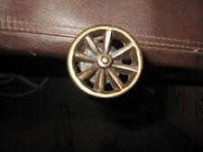 Mw.A777: Fascinating Gold Wagon Wheel Walking Stick Cane - Cowboy Western