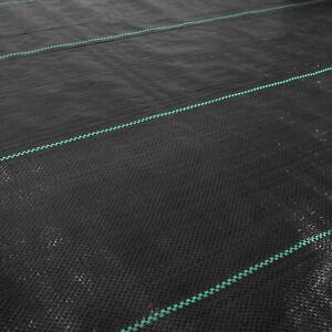 Unkrautvlies Unkrautfolie Gewebe 100 g/m²  Gartenfolie Bodengewebe Beet schwarz