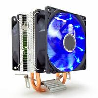 Blue LED CPU Cooler Fan Heatsink for  Intel 775/1151/1155 AMD AM3/4 Ryzen