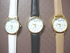 WHO CARES fun novelty watch Analogue Faux Leather Band BRAND NEW (3 colours)