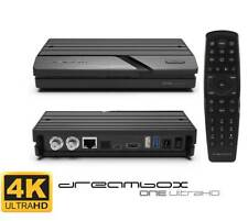 Dreambox One Ultra HD 2x DVB-S2X Multistream Tuner 4K 2160p E2 Linux Dual Wifi !