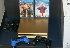 Gold Sony PS4 Slim Limited Edition 1TB System in Box w/ 2 controllers & 2 Games.