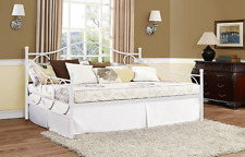 Victoria Full Size Metal Bed Daybed WHITE Antique Bedroom Home Furniture NEW