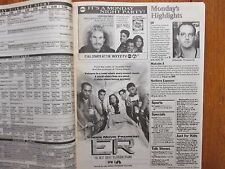 Sept-1994 Detroit Free Press TV Book/Magaz(PREMIERE OF ER/CHICAGO HOPE/KEN BURNS