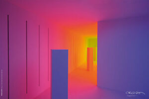 "CARLOS CRUZ DIEZ -Chromosaturation Poster Inside BLUE Room 60x40 cm/23.6""x15.7"""