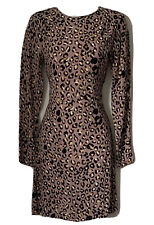 H&M Women's 34 / UK 6 Animal Print Shift Dress Crepe Rayon Purple Blush Bloggers