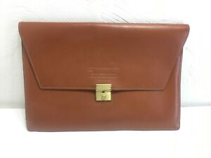 Cyanamid Medical Research Document Pouch / Leather Letter Case / Cowhide Inside