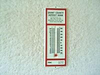 "Vintage Metal Grant County Deposit Bank Promotional Thermometer "" BEAUTIFUL ITEM"