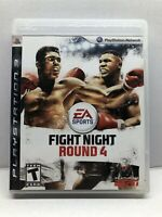 Fight Night Round 4 (PlayStation 3, 2009) Complete w/ Manual - Tested Working