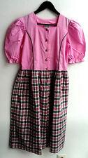 Damen Trachten Kleid rosa, Rock grün rosa kariert Gr. 164 v. St. Peter Country