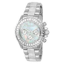 Invicta Women'S Angel Steel Bracelet & Case Quartz White Dial Watch 22968