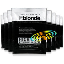 8x Jerome Russell Bblonde High Lift Powder Bleach 25g To Use With Cream Peroxide