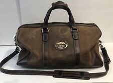 Roots Canada Brown Tribe Leather Banff Leather Weekender Duffle Travel Bag