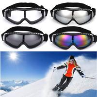 1xGray Winter Snow Sport Goggles+1xSilver Ski Snowmobile Sun Glasses Eyewear US