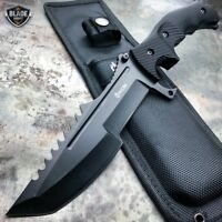 "11"" CSGO Tactical Hunting Tracker FIXED Blade Survival Bowie Combat Knife BLACK"