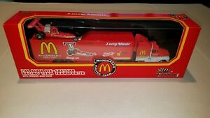 McDonald's Dragster Champions 1:64 Die Cast Racing Team Transporter & Car