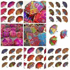 50PC Indian Wedding Umbrellas Decorative  Embroidery Handmade Women Parasols Lot