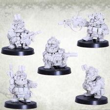 Dvergr Commando Tactical Squad Squat Space Dwarf Zwerge Kromlech Resin KRM095