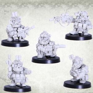 Dvergr Commando Tactical Squad Squat Space Dwarf Dwarves Kromlech Resin KRM095