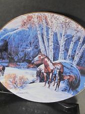 1994 Touching the Spirit CAMP OF THE SACRED DOGS  Horse Ltd Ed Plate