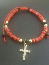 Pulsera roja cuentas negras para Protección del mal.Red bracelet for protection
