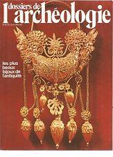 HISTOIRE ET ARCHEOLOGIE N°40 LES PLUS BEAUX BIJOUX DE L'ANTIQUITE