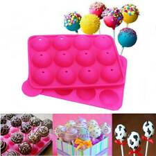 Silicone Cake Mold 12-cavity Pop Lollipop Set Non-Stick Mold Tray Party Cookware