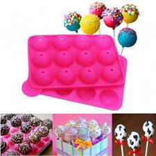 Silicone Cake Mold 12-cavity Lollipop Set Non-Stick Mold Tray Party Cookware