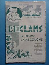 Reclams Béarn Gascogne N° 7-8 1962 Palay Champignon Osmin de Ricau Picot Bouzet