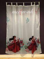 Disney Tab Top Voile Net Curtain - ELENA - 75 cm width x 162 cm drop