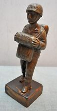 Original Old Antique Hand Crafted Engraved Brass Military Man Figurine