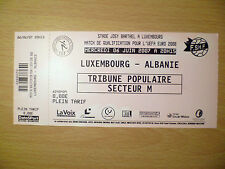 Billet: Qualify for the UEFA Euro MATCH 2008-Luxembourg V Albanie 6 June