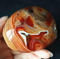 TOP 110.7G Natural Polished Banded Agate Crystal Madagascar YWA120