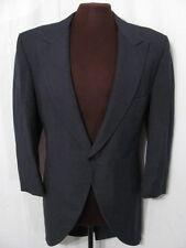 vintage 70s Lord West Dark Grey Morning Coat Cutaway Tuxedo Jacket goth L 42