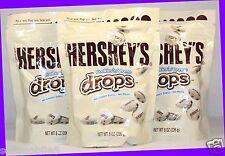 3 Hershey's Cookies 'n' Creme Drops Candies 8 oz ea Bag EXP. New & Fresh