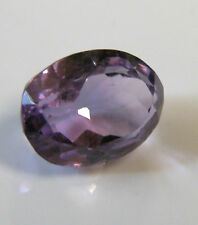 Natural earth-mined amethyst oval gemstone...6.5 carat