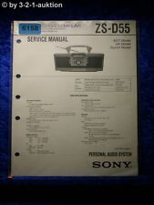 Sony Service Manual ZS D55 Audio System (#6158)