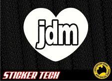 JDM LOVE (HEART) STICKER DECAL TO SUIT DRIFT WORKS WHEELS S13 350Z R33 R34 VTEC