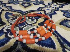 Coral 3 strand Beaded Necklace Vintage Natural Angel Skin Pink