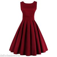 50s 60s Swing Sexy-V Pinup Vintage Prom Rockabilly Retro Party Cocktall Dress
