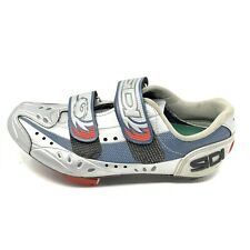 SIDI Cycling Shoes Womens 39 EU 8.5 US Silver Blue Breast Cancer Awareness