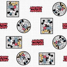 #1267 Quilt Cotton Fabric  FAT QUARTER Disney Mickey Mouse Newsprint