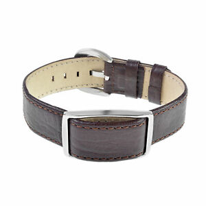 Bioflow Magnetic Therapy Executive Brown Leather Wristband - From Bioflow Direct