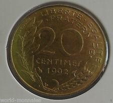 20 centimes marianne 1992 : SUP : pièce de monnaie française