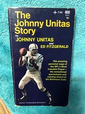 1969 THE JOHNNY UNITAS STORY BY JOHNNY UNITAS AND ED FITZGERALD