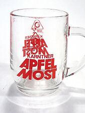Karntner Apfel Most Apple Glass Beer Mug Barware Etched Red France